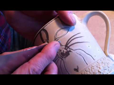 Dennis Meiners Ceramics, Mishima Technique, Mishima Ceramics, Mishima Pottery