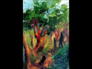 Leslie Lee, Painting Progression, Into the Trees