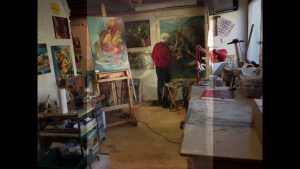 Leslie Lee, Painting, Work In Progress, Fine Art
